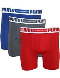 6f3f7e5e595 PUMA Men's 3-Pack PMTBB 3-Pack Boxer Brief Sport Stretch Red/Pink