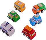 #9: SAHAYA Combo set of 6 pull back Toy CARS/ VEHICLES for kids Attractive colors | Plastic | Safe for children | Birthday gifts