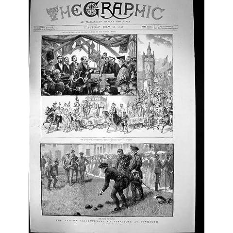 Cuencos 1888 de Westwell de la Procesión de Plymouth de la Celebración del Tricentenario de la Armada