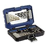LUX-TOOLS Bohrer- & Bit-Set, 36-teilig | Spiralbohrer- & Bit-Satz in Aufbewahrungs-Box mit Bohrern für Holz, Metall & Stein inkl. Bithalter, Senker und 3 Stecknüssen