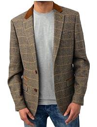 Mens Marc Darcy Designer Blazer Tailored Fit Checkered Velvet Trim Smart Formal Dinner Coat Jacket Waistcoat Dx7 Harris Scott Rayford