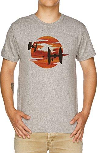 Vendax Paseo de el Corbata Combatientes Camiseta Hombre Gris