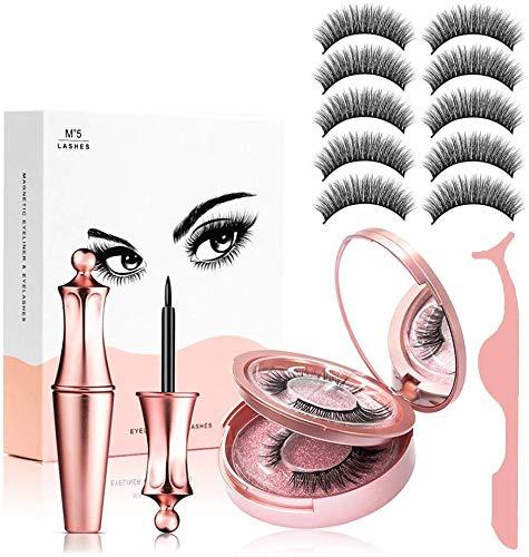 Fau Cils Magnétique Naturel Magnétique Eyeliner Kit De...