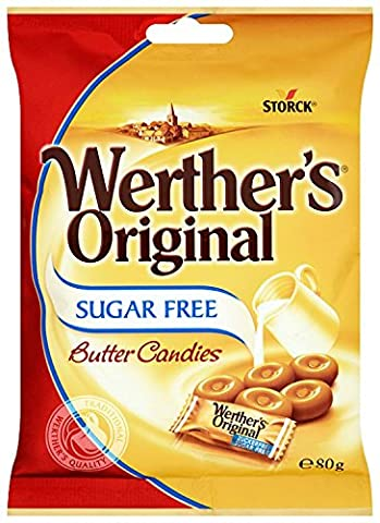 Werther's Original Sugar Free Butter Candies 80 g (Pack of 18)
