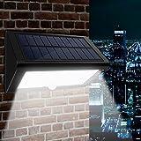 Solar Wandleuchte, CroLED Solarleuchte 35 LED Solarlampen Solar Aussenleuchte Außenwandleuchte 4000mAh Solar Gartenleuchten 4 Modi mit Bewegungsmelder Solarlampen mit 180° Weitwinkel Sehr Helligkeit