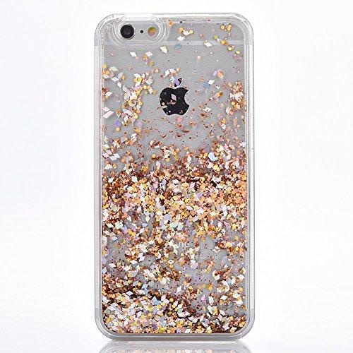 Voguecase® Pour Apple iPhone 6/6S 4.7, Luxe Flowing Bling Glitter Sparkles Quicksand et les étoiles Hard Case étui Housse Etui(coloré) de Gratuit stylet l'écran aléatoire universelle Boîte Quicksand-Jaune