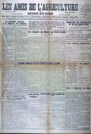 AMIS DE L'AGRICULTURE DE SEINE ET OISE (LES) du 26/01/1940