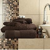 6piezas Juego de toallas de algodón egipcio 700gsm Extra suave parte superior calidad de lujo Miami (2x de baño hojas, 2x toallas de baño y 2x toallas de mano) Chocolate