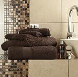 6 tlg. Handtuch, ägyptische Baumwolle, besonders weich, Top Qualität, Miami, 2 x Badetücher, 2 x Badetücher, 2 x Handtücher, Chocolate