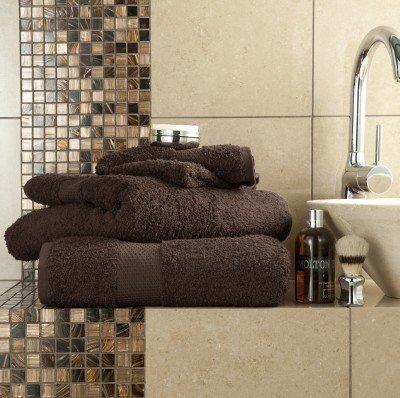 6Stück Handtücher Set Ägyptische Baumwolle 700GSM Extra Soft Top Qualität Luxus Miami (2x Badelaken, 2x Badetücher und 2x Handtücher) Schokolade
