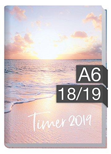 Chäff-Timer mini A6 Kalender 2018/2019 [Traumstrand] 18 Monate Juli 2018-Dezember 2019 - Terminkalender mit Wochenplaner - Organizer - Wochenkalender