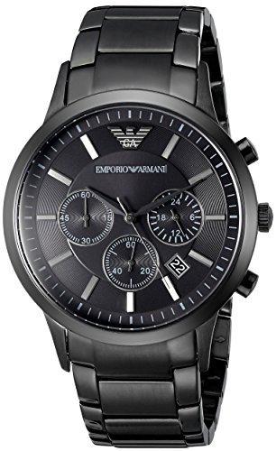 Men's Emporio Armani AR2453 Quartz Black Dial Stainless Steel Chronograph Watch