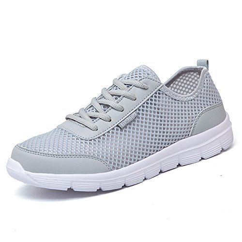 adultos-unisex-verano-de-malla-transpirable-zapatos-aqua-caminar-zapatillas-negro-azul-gris-gris-46
