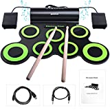 BONROB Batterie Electronique Drum Set, Roll Up percussions Midi Drum Kit...