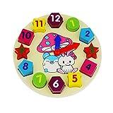 SIPLIV blocchi di legno preschool giocattoli digitali geometria orologio forma ordinamento orologi giocattolo educativo per il bambino