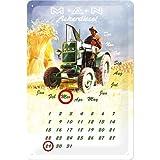 Nostalgic-Art 20288 Man Traktor Ackerdiesel Kalender Blechschild, 20 x 30 cm