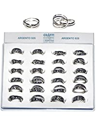 Joyas de Fe anillo de 5 mm de Tris 925 Ag01278 joyas y bisutería