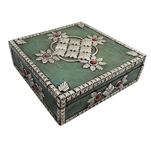 fatti a mano mdf di monili decorativi materiale di legno tavolo verde topper accessori donna perline Trinket articolo da regalo di nozze