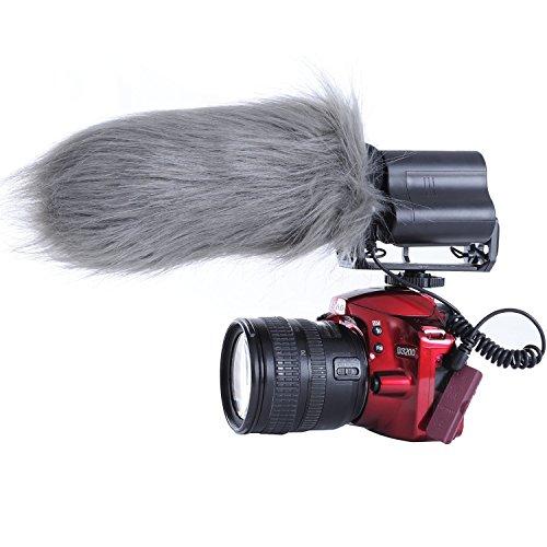 Movo WS3 Protector contra el Viento de Piel para el Aire Libre Micrófono Grande Cañón hasta 7