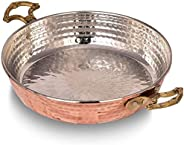 Hammered Copper Chef Pan, Handcrafted Authentic Red Copper Skillet, Turkish Egg Omelet Frying Pans Sahan