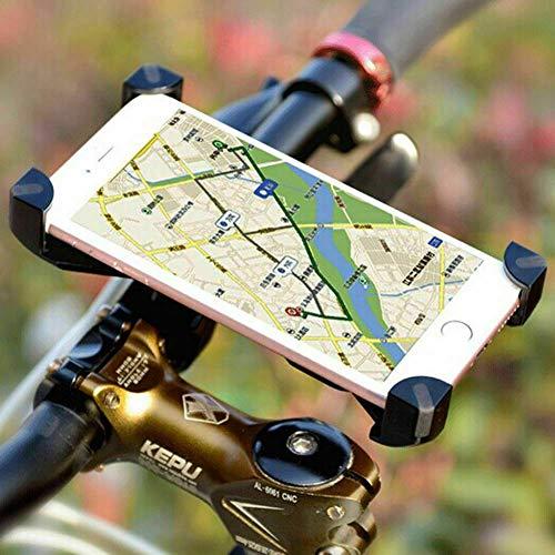 Fahrrad Handyhalterung, Wrcibo Universal Handy Halterung Outdoor Fahrradhalterung Fahrrad Lenker 360° Drehbare Handyhalterung Handy GPS Halter-Schwarz (Lg G3 Bei T-telefon)