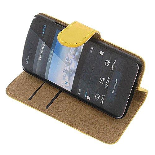 Tasche für Wiko Birdy Book Style gelb Kreditkarte Schutz Hülle Buch