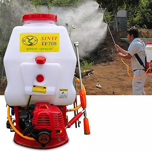 20L Benzin Motorsprüher, Rucksack Pump Action Pressure Sprayer, landwirtschaftlicher Unkrautgarten Benzin Angetriebener Rucksack, Kommerzieller Nebel Staubtuch, für Erntefelder/Garten/Obstgärten (Beste Outdoor Nebel Maschine)