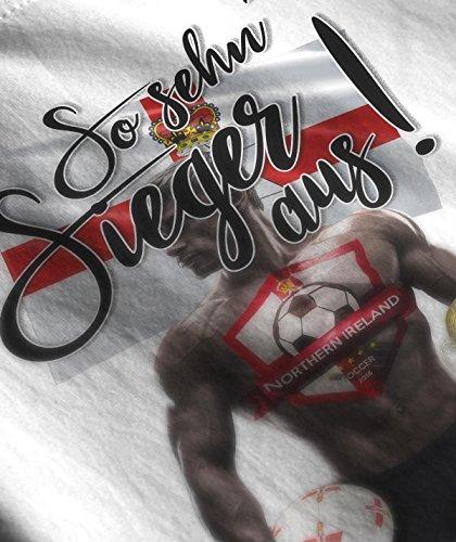 Stylotex Herren T-Shirt Basic So sehn Sieger aus Guy Nord Irland Northern Ireland, Farbe:weiss;Größe:S