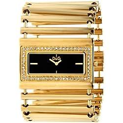 Dolce & Gabbana D&G Dolce&Gabbana - Reloj analógico de cuarzo para mujer con correa de acero inoxidable, color dorado