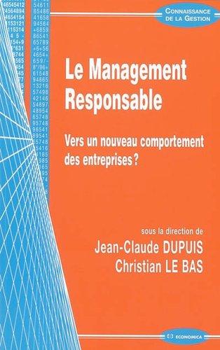 Le Management Responsable : Vers un nouv...