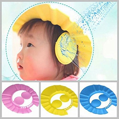Baby's Hair Wash Hat Shampoo Shower Cap Color-Pink