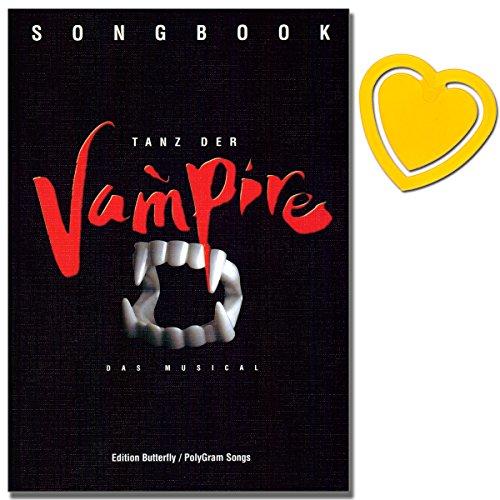 Gitarre Für Klavier Und Noten (Tanz der Vampire - Musical Songbook für Klavier, Gesang, Gitarre - Nach dem gleichnamige Film von Roman Polanski - mit herzförmiger Notenklammer)