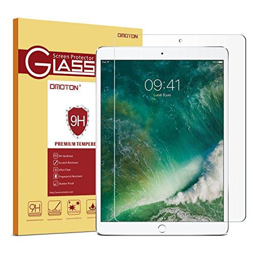 OMOTON Displayschutzfolie (Apple Bleistift kompatibel - Hartglas) für iPad Pro 12.9 zoll mit [2,5D Runde Kanten], [9H Härte], [kristallklar], [kratzerresistent]