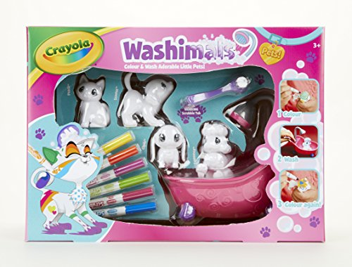 Crayola Washimals Colour and Wash Pets Playset - Creative Colouring Crafts Kit, Gift Set with Washable Marker Pens