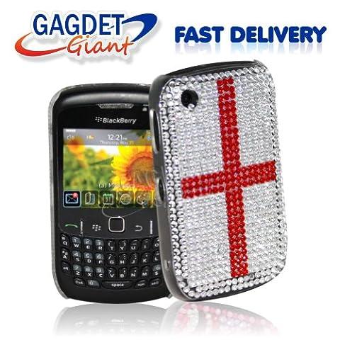 Gadget Giant Blackberry Curve 8520/9300Diamant Perle Strass Bling Coque Support St George–Drapeau Grande-Bretagne–Londres 2012Jeux Olympiques–Queens Jubilé de diamant 2012
