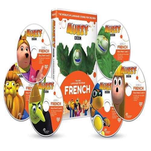 French for kids Muzzy BBC 6 DVDs...