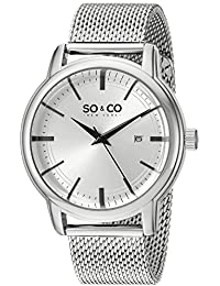 SO & CO New York 5207.1 - Reloj de cuarzo para hombres, plateado