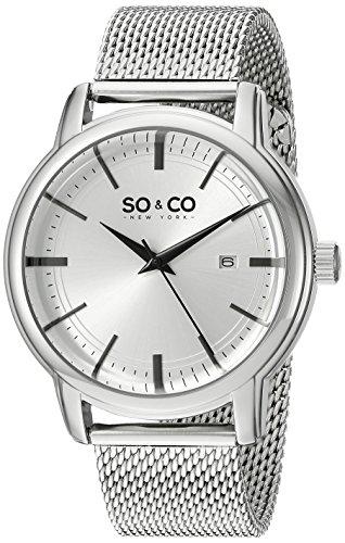 SO&CO New York Madison Herren-Armbanduhr Analog Quarz Edelstahl - 5207.1