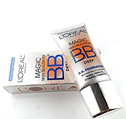 LOREAL PARIS BB FOUNDATION CREAM SKIN BEAUTIFIER DEEP PRIMES,HYDRATE AND CORRECT
