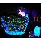 Cubo de hielo LED de carga barril de vino resplandor barril de cerveza siete tipos de luz