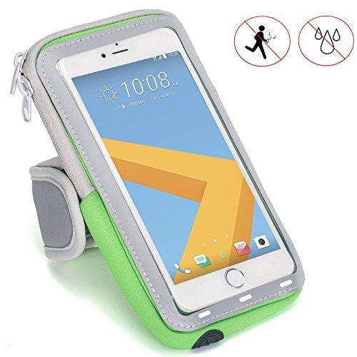 Handy Schutzhülle Tasche   für Switel Mambo S4018D   Sport armband zum Laufen, Joggen, Radfahren   SPO-1 Grün