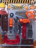 #7: Shop & Shoppee Tool Set Toys for Kids, Pretend PlaySet, Carpenter Pretend Toolbox Construction Tools, Role Play Engineer Workshop Tool Kit for Kids (Multicolor)