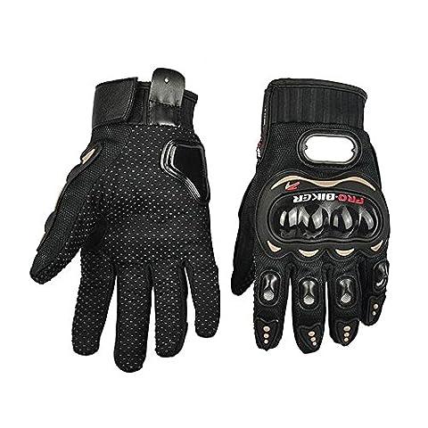 Contever® Haute Qualité Plein Gants Finger Racing Motorcycle moto Motocross Vélo Dirt Bike--Noir-XL