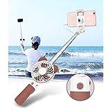 Juleya Selfie stick USB Fan - Mini ventilatore palmare Personal Portable Desk Tavolo Tavolo Ufficio Room Outdoor Famiglia itinerante Camping Ventola di raffreddamento