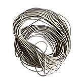 10m Wachs Wachsschnur Nylonschnur Seil Für DIY Armband Neckace 1mm Machen - Hellgrau
