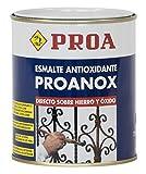 Proa. Esmalte directo sobre óxido antioxidante Proanox, Negro RAL 9005. 750 ML