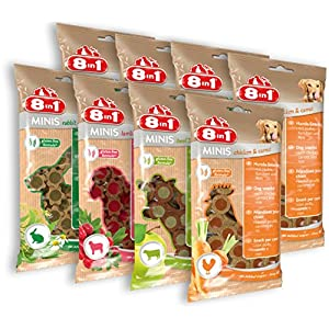 8in1 Minis Selection Hundesnack in 4 verschiedenen Sorten, 2er Pack (8 x 100 g)