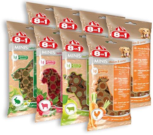 8in1 Minis Selection Hundesnack in 4 verschiedenen Sorten, 2er Pack (8 x 100 g)