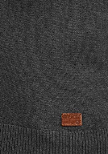 Blend Larsson Herren Pullunder Strickweste Feinstrick Mit V-Ausschnitt, Größe:M, Farbe:Charcoal (70818) - 5