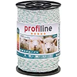 Filo per recinzioni elettriche, lunghezza 400 m, con fili in acciao inox 3 x 0,20 e fili in rame 3 x 0,25, colore bianco/verde